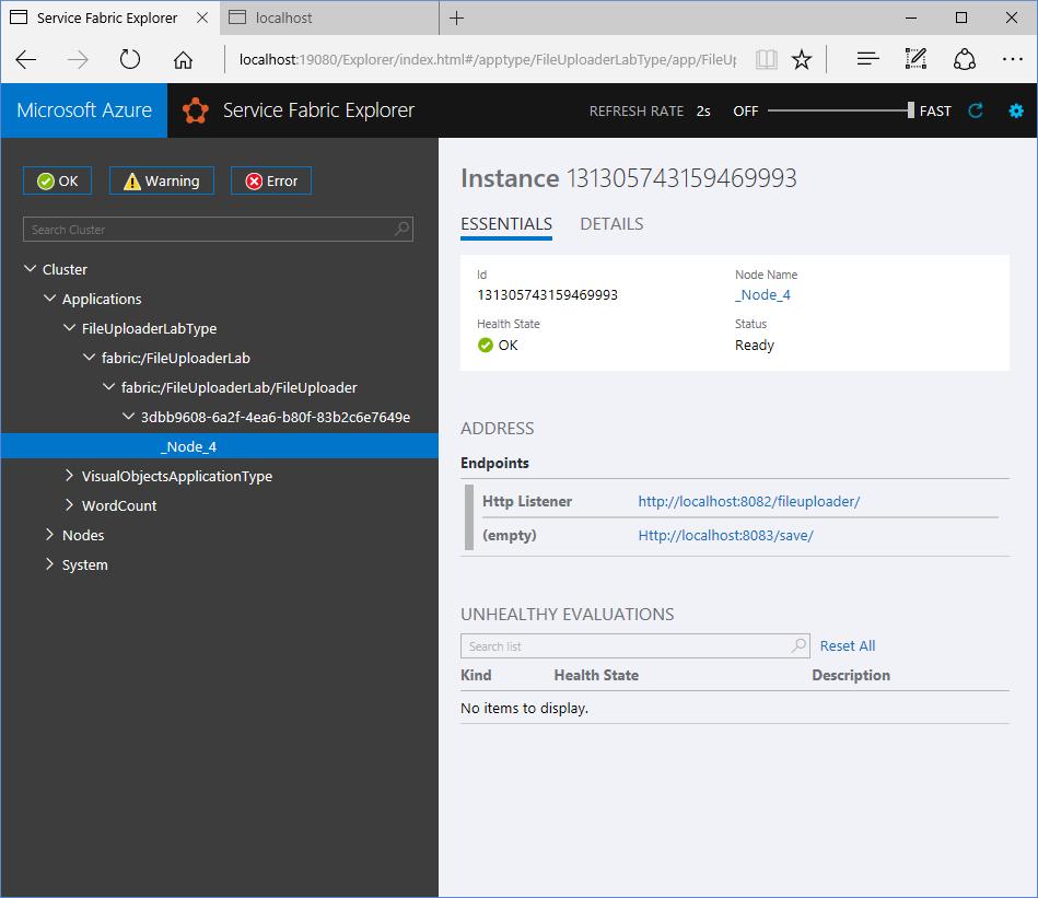 File Upload Handler built using Azure Service Fabric | Sky Cliffs
