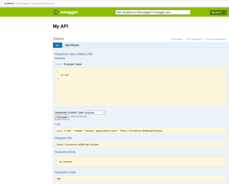 Swagger UI authentication with Azure AD B2C on Service