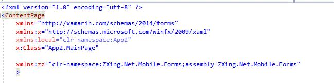 ZXing QR Code Display in Xamarin Forms   Sky Cliffs